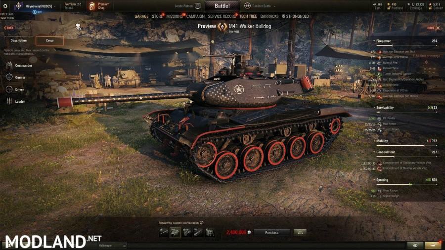 M41 Bulldog Sports Edition -Heynoway skins- Updated [1.1.0.1]